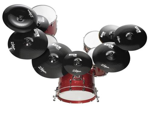 Black Cymbal Set Cymbal For a Drum Set