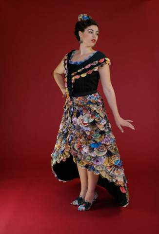 Crafty Fashion By Nancy Judd The Recycled Fan Mail Dress