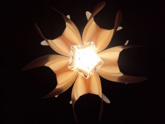 Loto chandelier by Eugenio Menjívar