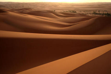 The vast Libyan desert (from WikiMedia)