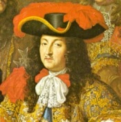 Louis XIV wearing a cravat in 1667