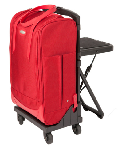 Ballistic Jetcart luggage with foldable seat chair: ©walkingbag.com