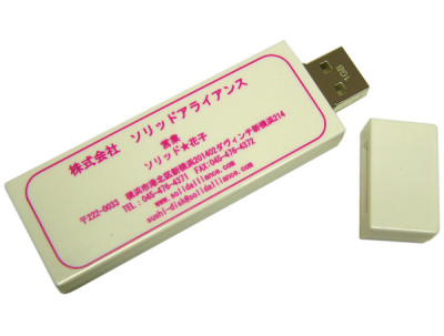 Business Card USB Key Flashes Your Contact Info