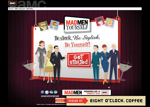 MadMen Yourself microsite
