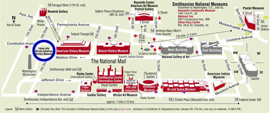 Map of National Mall With Blue Circle by Toby!