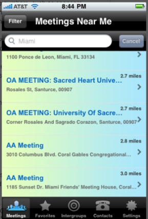 Meetings Near Me - Steps Away App