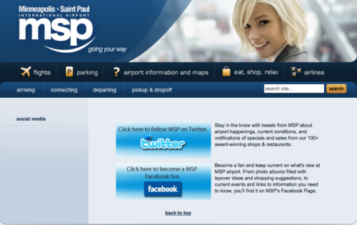 MSP Social Media Microsite
