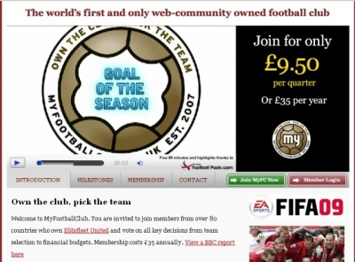 MyFootBallClub.co.uk Web site