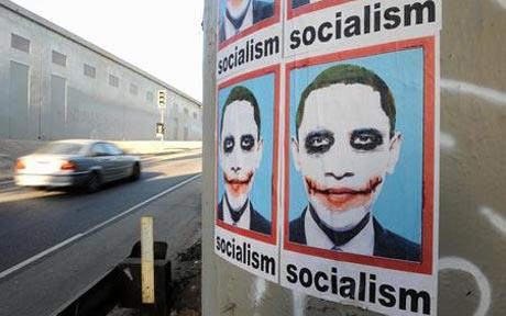 Obama Joker on Socialist Poster