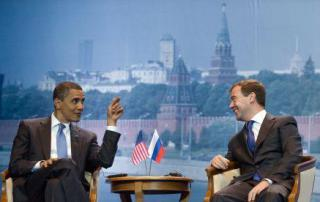 Obama and Medvedev meeting July 6, 2009
