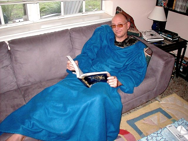 Look!  I can read AND wear the Snuggie at the same time!!!!