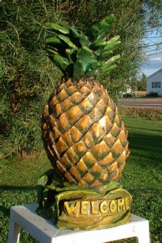 Pineapple - Carved from Elm Tree