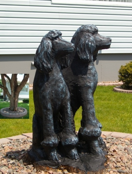 Poodles - Carved from Maple Tree