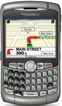 GPS screen on the 8310