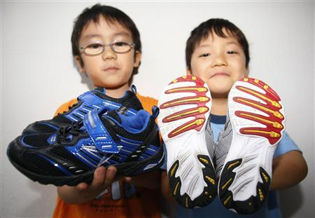 In the running: Japanese students flaunt fleet footwear