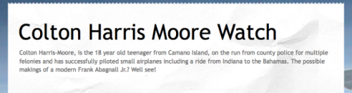 Colton Harris-Moore' blog