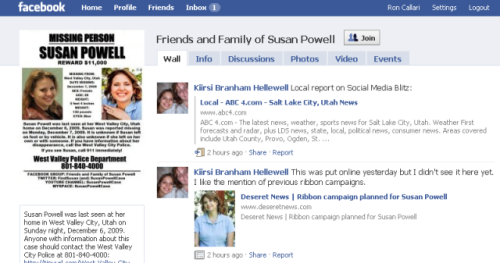 Susan Powell Facebook Fan Page