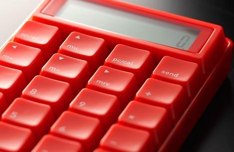 The Takumi 10 Key Calculator connects to your computer with an accessory USB cable but also functions as a very cool, if very clunky, stand alone pocket calculator.
