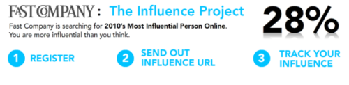 The Influence Project Web site screen shot