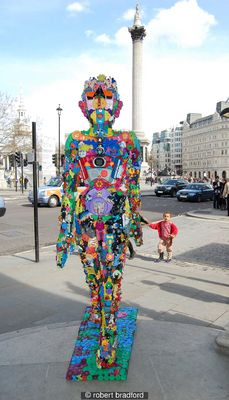 Toy Girl Outside Trafalgar