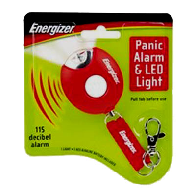 Energizer Panic Alarm &amp;amp; LED Flash Light Key Ring