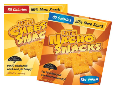 FiberGourmet Lite Cheese Snacks and Lite Nacho Snacks