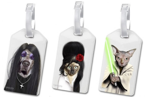 Ozzie, Amy, & Yoda Luggage Tags: ©Takkoda