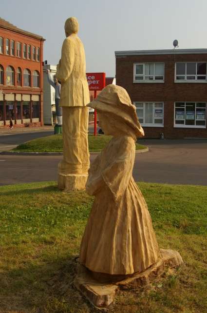 Victorian Girl - Carved from Elm Tree
