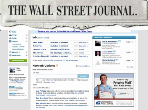 Mock-up of WSJ Connect