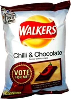 Walkers Chili &amp;amp; Chocolate Potato Chips