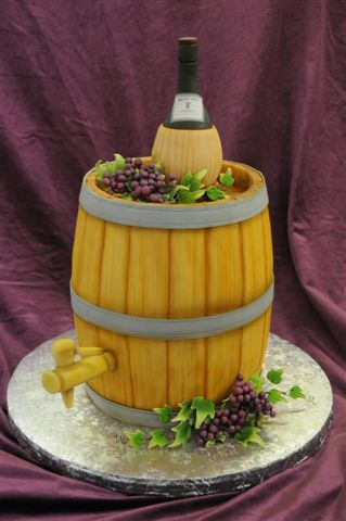 Wine Barrel Cake - Perfect for the Wine Lover!