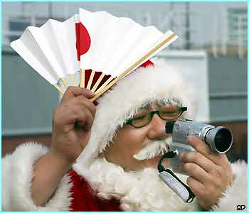 Santa has many Japanese fans!