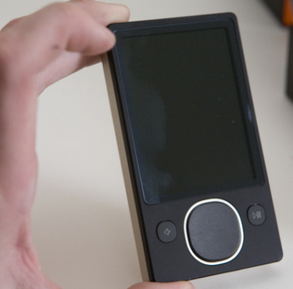 2nd generation Zune is smaller than the 1st generation model
