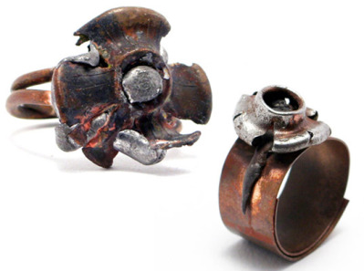 Reclaimed Bullet Rings