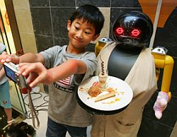 "One of China's ""cooking"" robots"