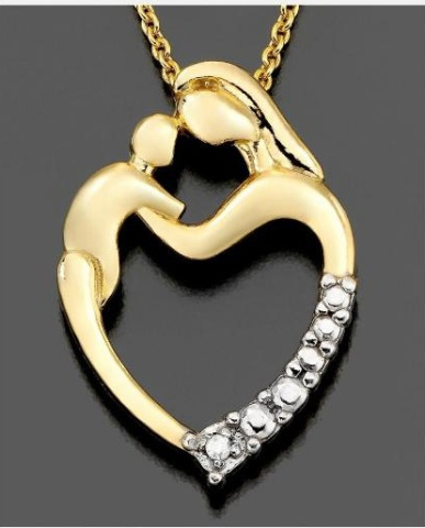 Mother and Baby Heart Necklace