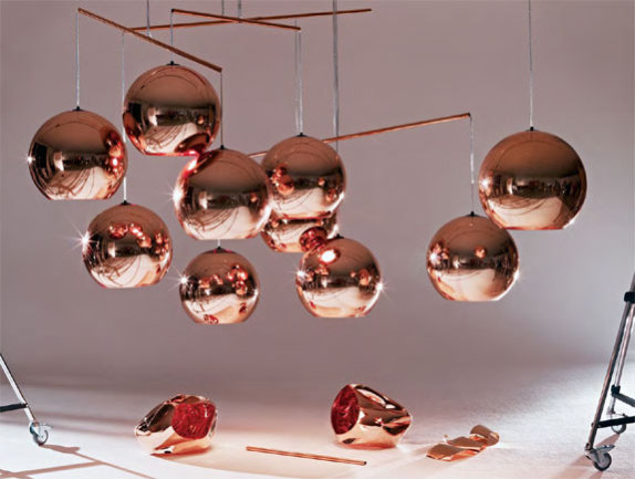 Copper Shade Hanging Lamps by Tom Dixon: Tom Dixon