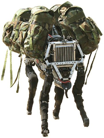 "Big Dog was developed as a ""mule"" robot to accompany troops on the move."