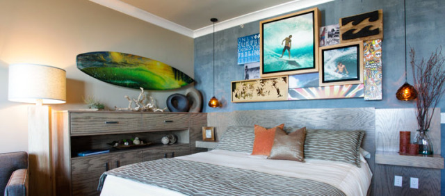 10 romantic getaway destinations most unique themed for Surfboard decor for bedrooms