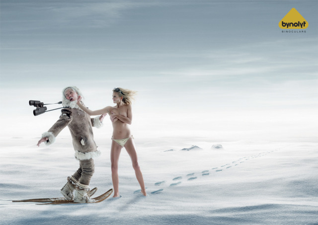 Breasts in snow
