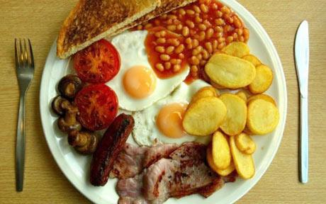 English breakfast: Photo: PA via Telegrah.co.uk