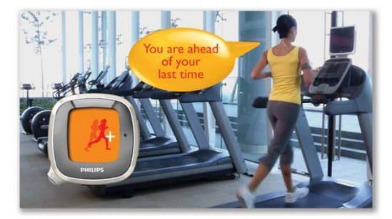 Philips Activa gives you performance feedback.