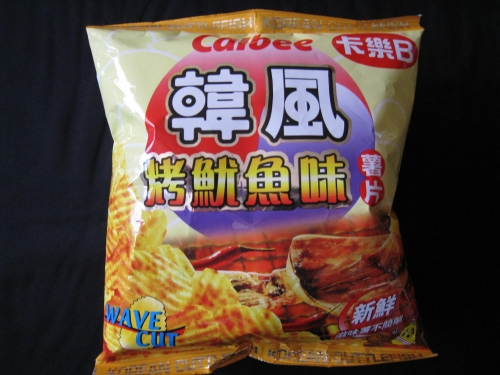 Calbee Korean Cuttlefish Potato Chips