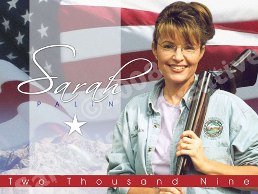 kick oburkas ass barrels tied sarah palin with shot gun