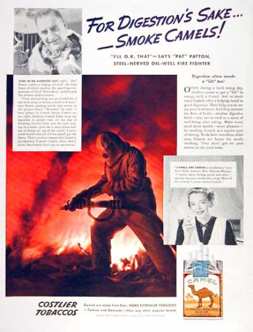 Camel Cigarettes, 1937- This is what I think Hell looks like...