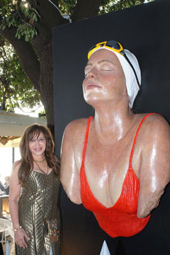 Feuerman with one of her sculptures