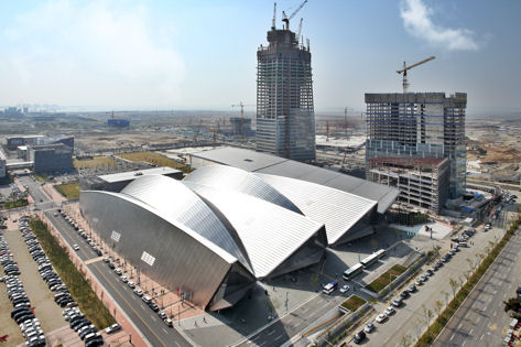Convention Center, New Songdo City, completed October, 2008