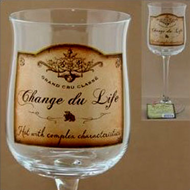 Change of Life wine glasses