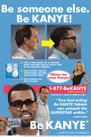 Ya gotta admit: Kanye IS a better look for the guy...
