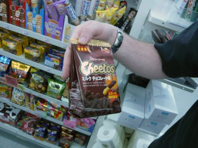 Milk Chocolate Cheetos... seriously!